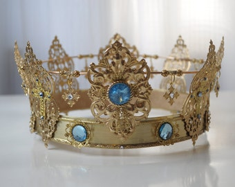FAITH: Gorgeous Gold Crown encrusted with Swarovski Crystals