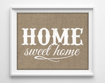 Home Sweet Home Vintage 50% off.home sweet home print home sweet home sign rustic