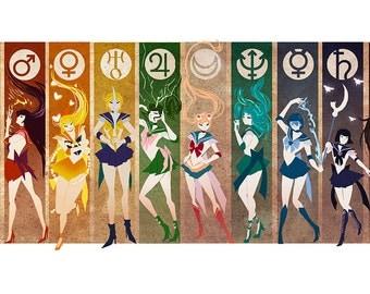 Sailor Moon | Sailor Senshi Simplify [Poster]