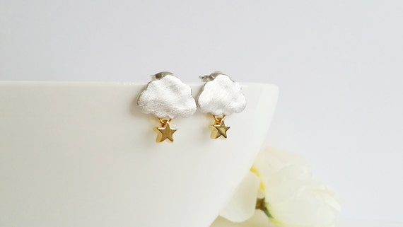 Silver Cloud Earrings from Mid-Summer Blooms