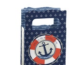 12 Ahoy Nautical Mini Favor Boxes - Custom Party Supplies