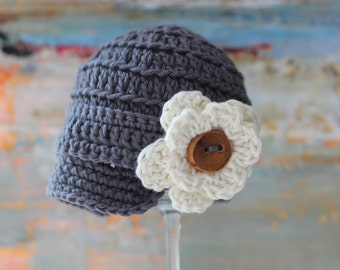 Baby Girl Hat, Infant Girl Hat, Newsboy Hat, Newborn Girl Hat, Beanie, Baby Girl Coming Home Outfit, Crochet Hat, Clothes, Infant Photo Prop