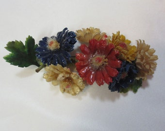 Vintage Millinery  Flowers made into a pin