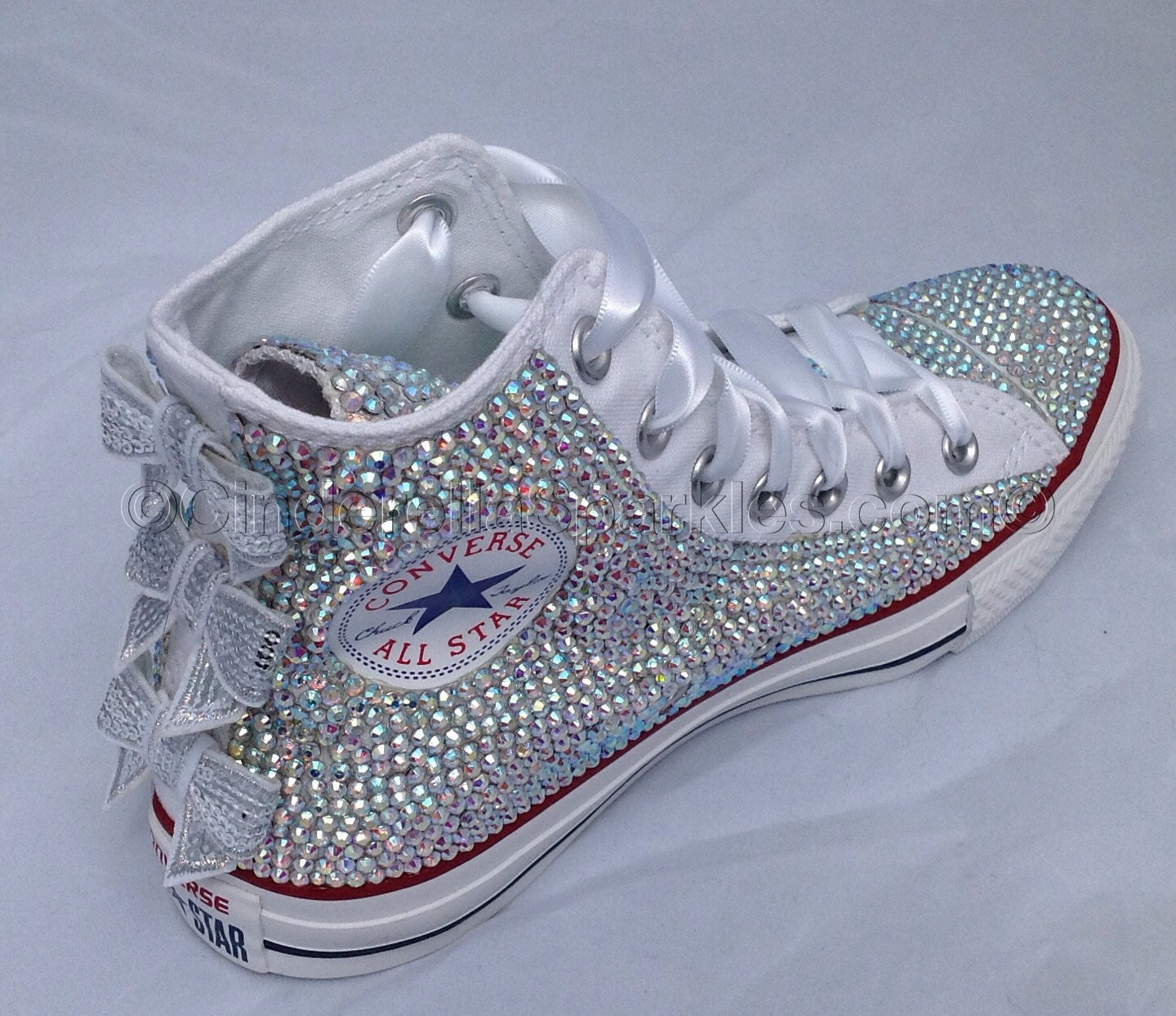 d88096f23be0 WHITE CHUCK TAYLOR HIGH TOP GLASS CRYSTAL