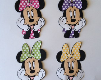 Set of 4 Minnie Mouse party decoration