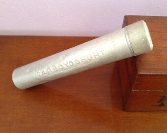 Aluminum box tube Carboyoghurt ~ ~ ~ Vintage Italian Institute Chemioterapico