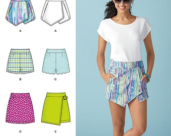 Simplicity Sewing Pattern 1370 Misses' Shorts, Skort and Skirt