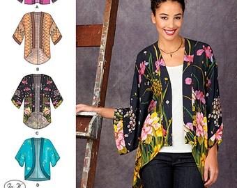 Misses' Kimono Jackets Simplicity Pattern 1318