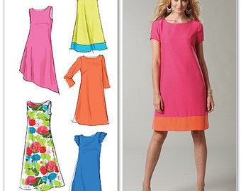 McCall's Sewing Pattern M6465 Misses' Pullover Dresses