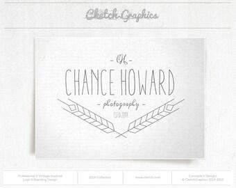 "Pre-made Logo Design - Vintage Logo Design - ""Chance Howard Photography"""