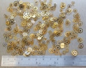 Swiss watch wheels, gears & cogs steampunk jewelry altered art crafts cyberpunk etc.