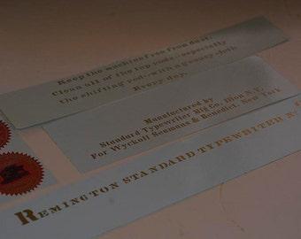 Remington 2  Typewriter Water Slide Decal set