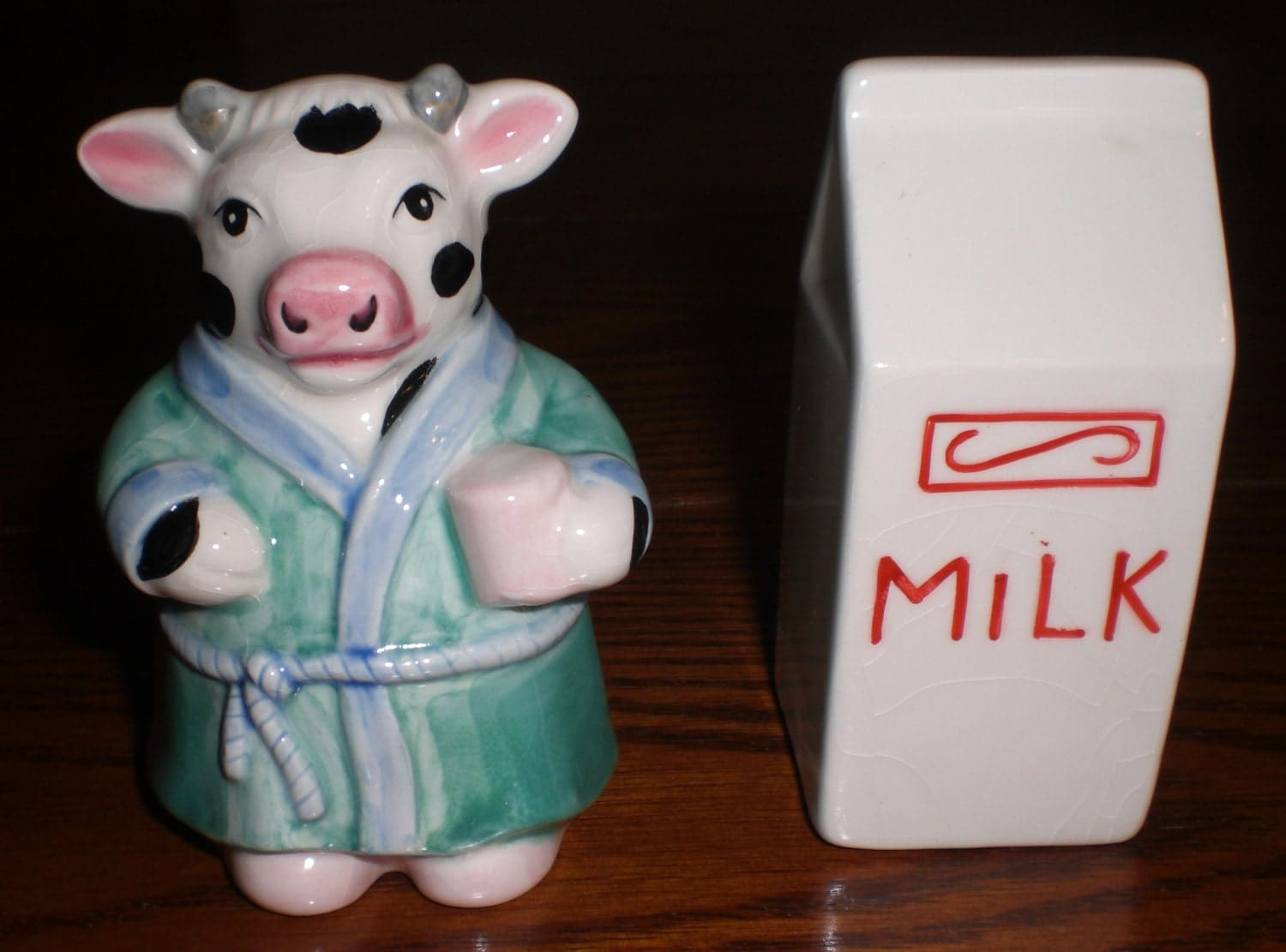 Cow And Milk Salt And Pepper Shakers Fun By Abundancerecycled