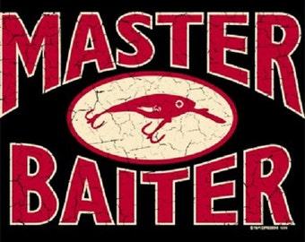 Master Baiter Funny Fishing Adult T-Shirt