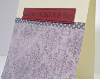 Handmade simple Father's day card