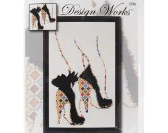 Quilted Heels Counted Cross Stitch Kit
