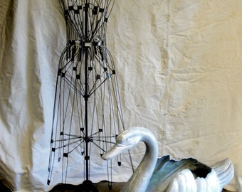 Antique wire dress form mannequin store display