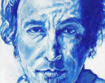 BOSS in BLUE, Bruce Springsteen, limited edition art print artwork 8&1/2 x 11   #11/100