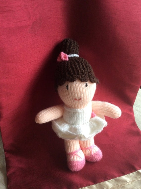 Knitted ballerina doll