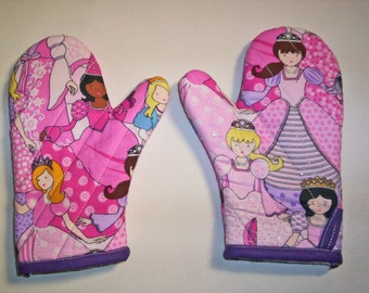 Children's oven mitts, Princess