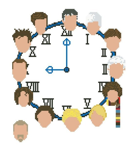 Doctor Who: The 13 Faces Cross Stitch Pattern Download