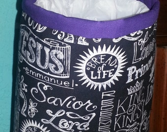 Purple Christian Car Trash Bag Holder