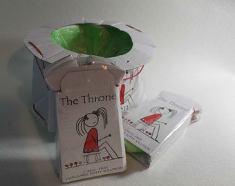 TheThrone disposable potty for children toilet training for travels camping