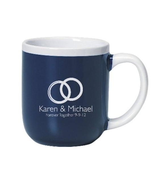 Engraved Wedding Coffee Mugs : 72 Personalized Wedding Coffee Mugs, Custom Coffee Cups, Price ...