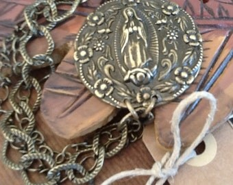 Our Lady of Guadalupe Bracelet Catholic Jewelry Guadalupe Medal