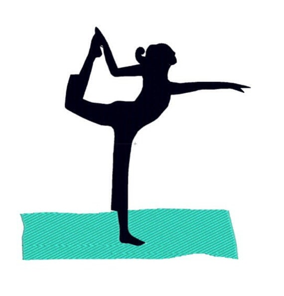 Items similar to machine embroidery design yoga dancer