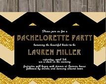 Great Gatsby Bachelorette Invitations