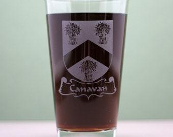 Family Crest  Glass (single) crest glass,family crest gift,beer gift,beer glass,custom glass,engraved glass,family shield