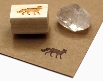 Little Fox Rubber Stamp