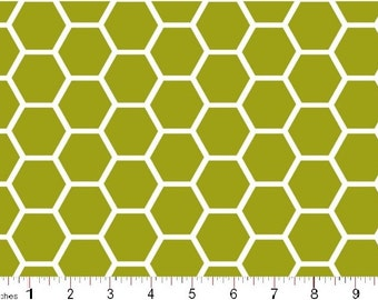 HONEYCOMB  by MDG in Moss Green by the yard