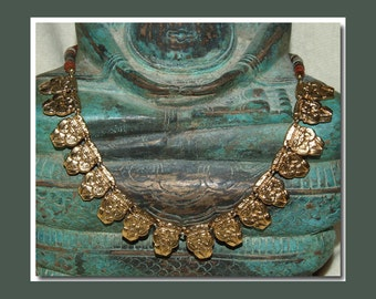 Vintage Magical Pre-Columbian Gold-plated Necklace