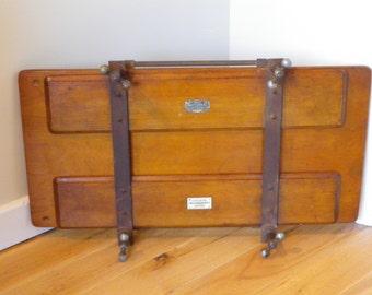 Antique English Oak Wooden Gentlemans  Trouser Press - Selfridge & Co, Shop  Display, period prop, period shop