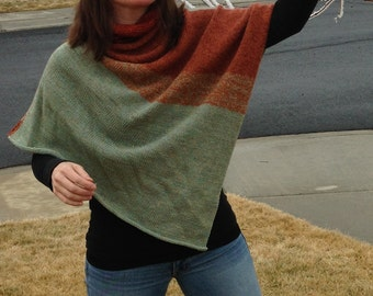Handmade Pure Wool Knitted Poncho