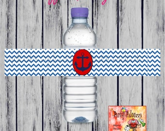 printable Nautical Water bottle labels