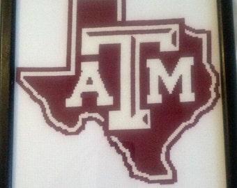 Texas A&M Cross Stitch Pattern