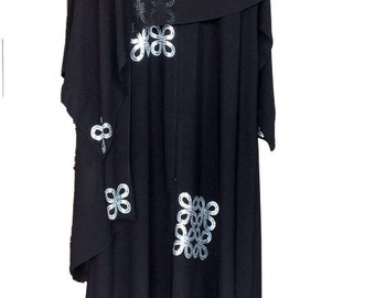 luxury Islamic Woman Black Abaya with Scarf