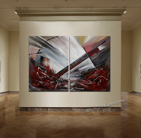 Grande peinture abstraite color e illustrations originales - Peinture abstraite coloree ...