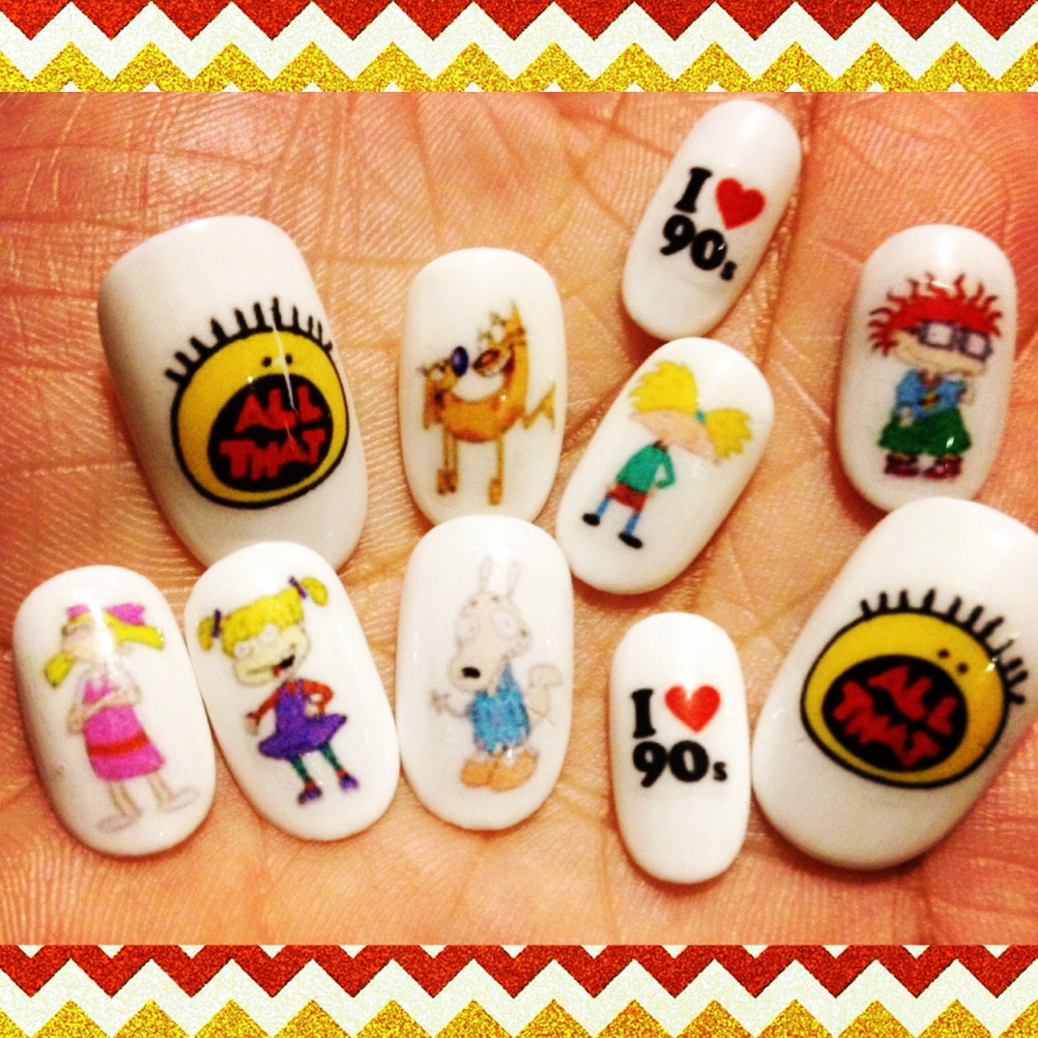 Rugrats Dog Life: 90s Nick Nail Decals/ Nail Wraps/ Nail Art/ Nickelodeon TV/