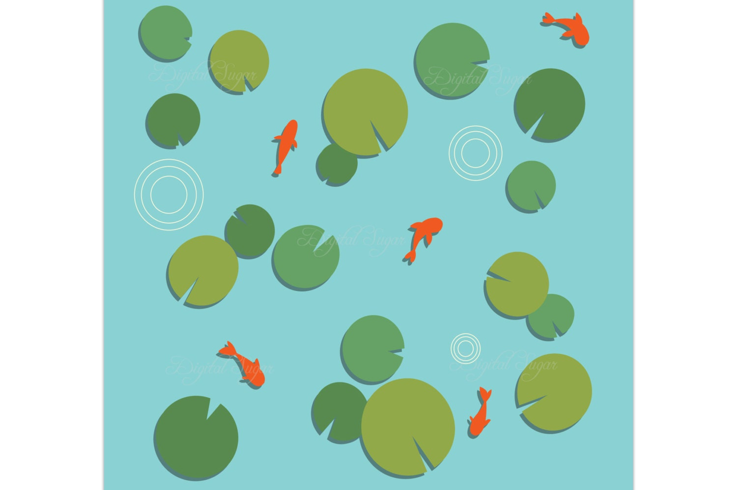 Blue koi fish clipart - photo#22