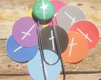 Cross paperclip bookmark.