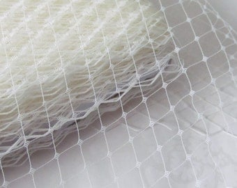 Ivory Russian Birdcage Veiling / Birdcage Veil Material / 9 inch veiling