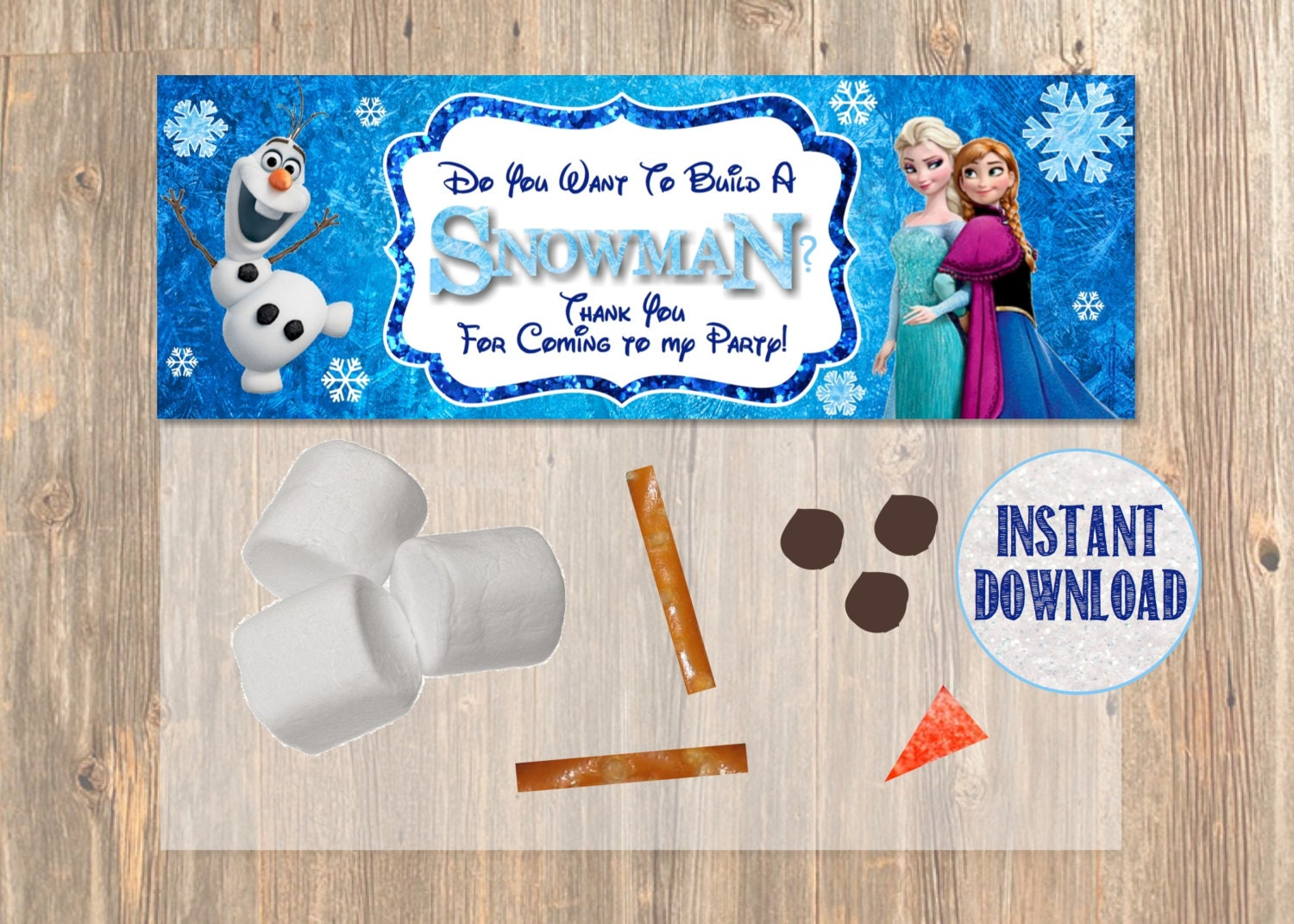 Do You Want To Build a Snowman Frozen Favor Bag by 4MustardSeeds