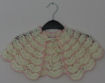 Crochet girls cape