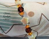 Shell Star single band memory wire bracelet