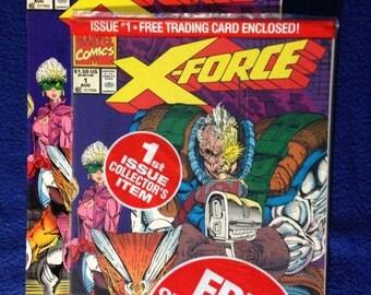 Vintage Marvel XFORCE Liefield Cable 2 comics