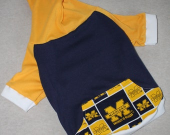 University of Michigan Dog Hoodie / Personalization Available!